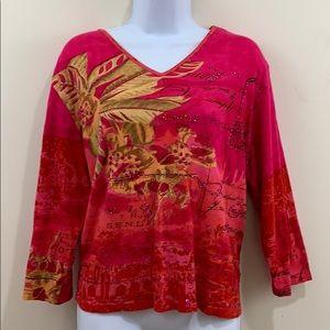 Jane Ashley Casual Long Sleeve Shirt  Size XL
